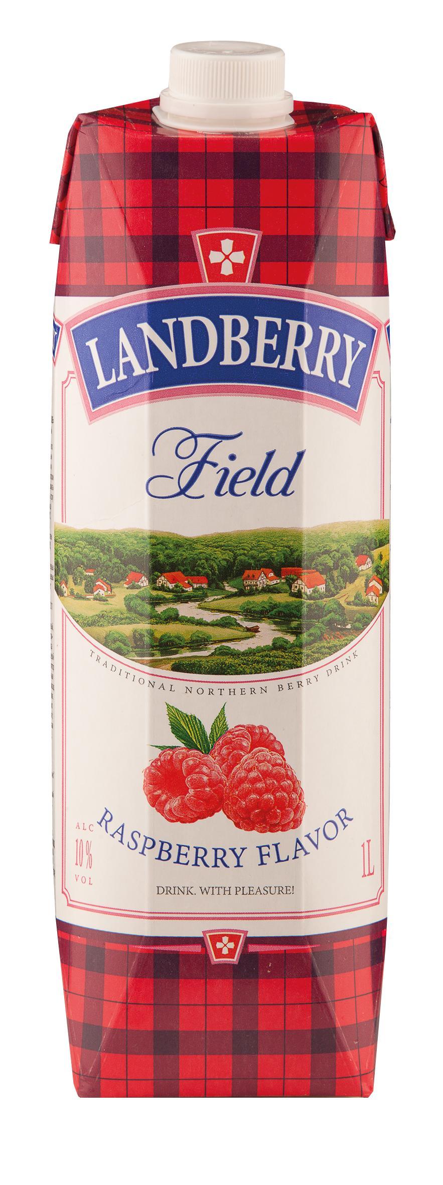 Винный напиток Союз-Вино Landberry Field Raspberry flavor красный сладкий 10%