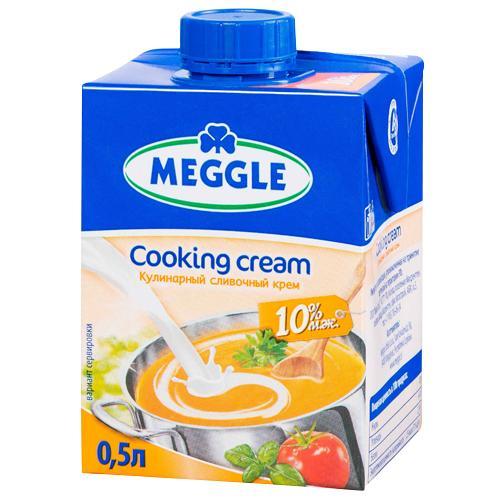 Крем Meggle Cooking Cream Кулинарный сливочный 10%