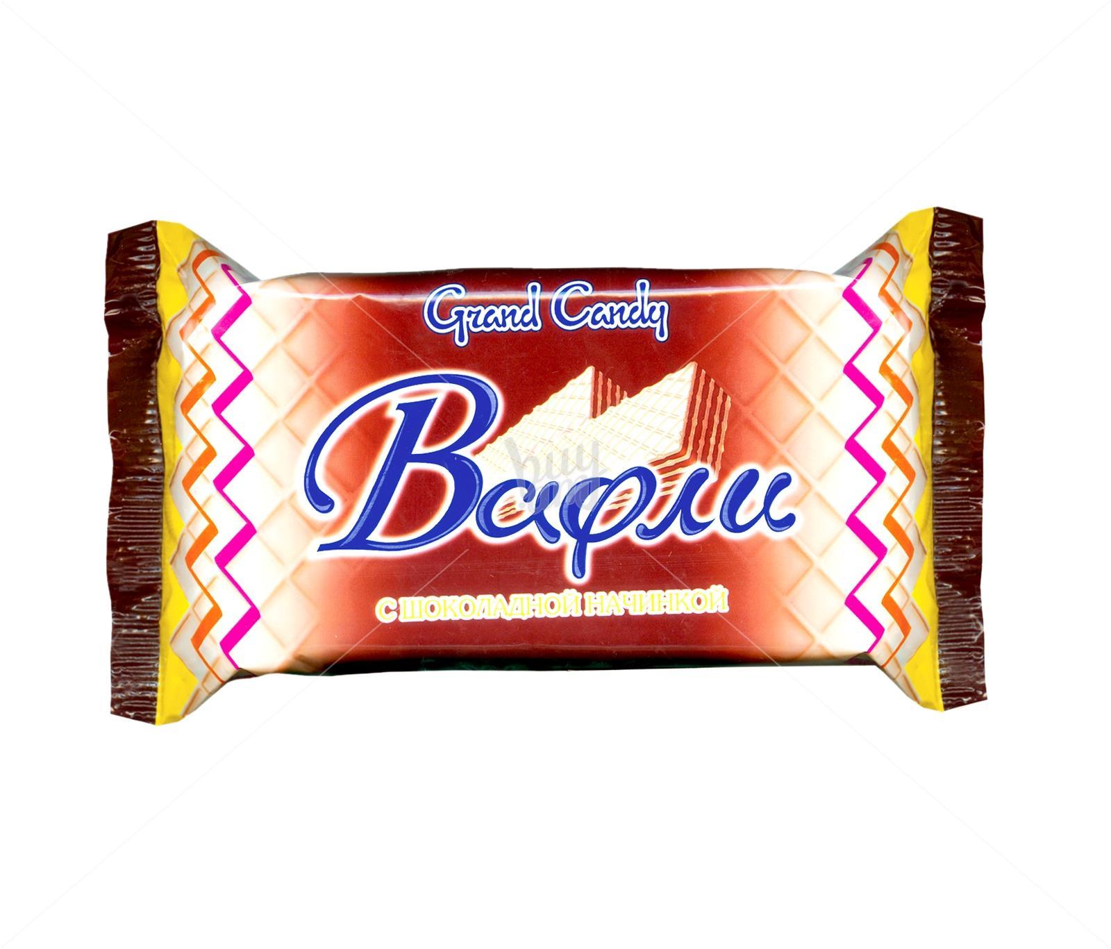 Вафли Grand Candy с шоколадной начинкой
