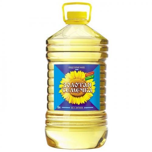 Масло Золотая семечка подсолнечное рафинированное 5л