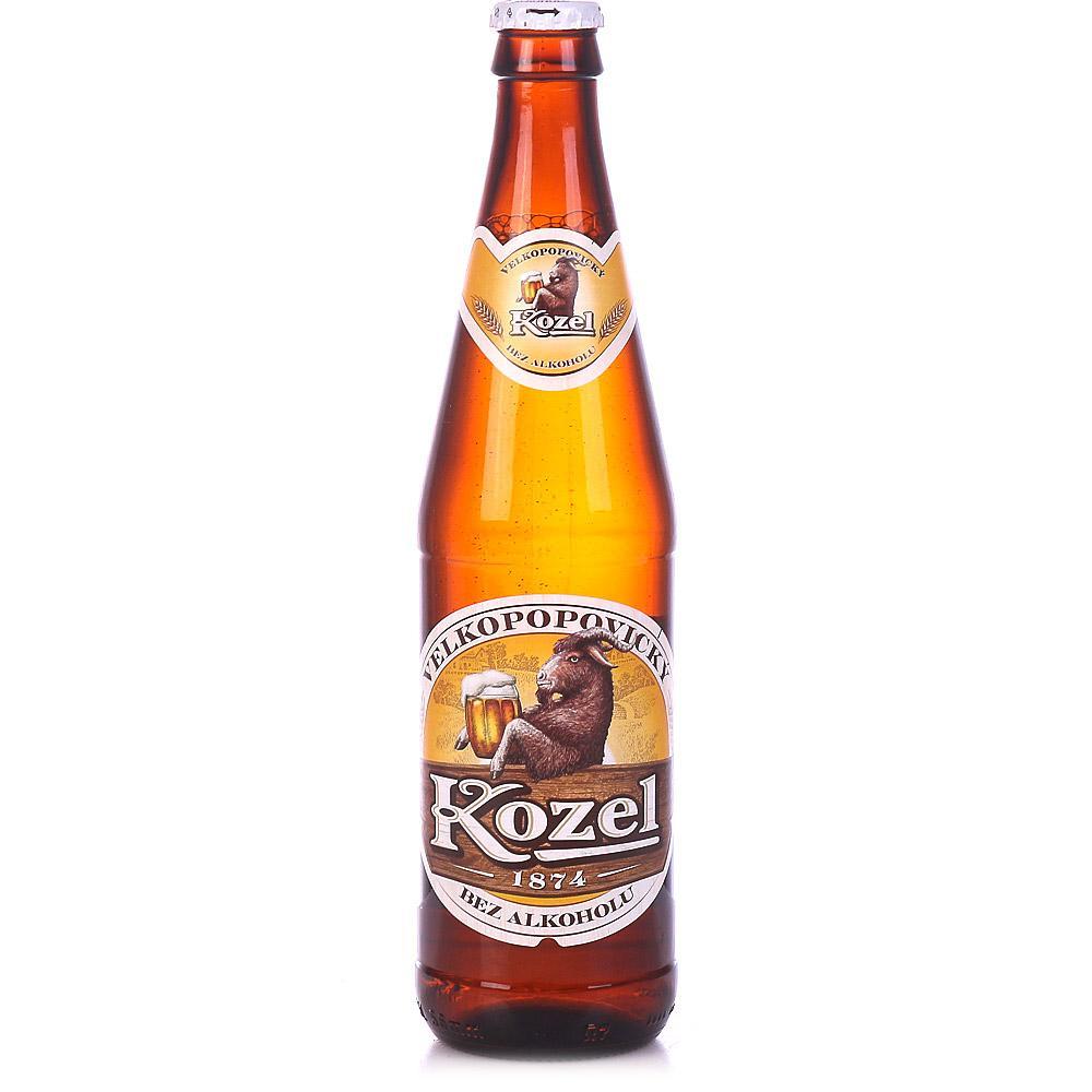 Пивной напиток Велкопоповицкий Козел безалкагольное, стекло 500мл