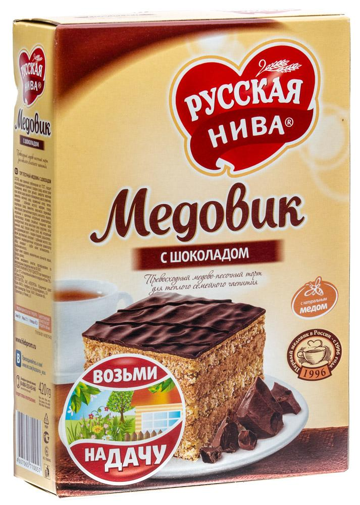 Торт Русская Нива Медовик с шоколадом