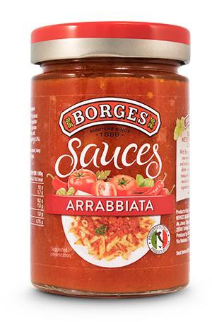 Соус Borges Arrabbiata с перцем чили томатный