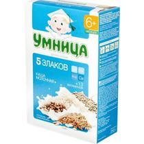 Каша Умница молочная 5 злаков с 6 месяцев