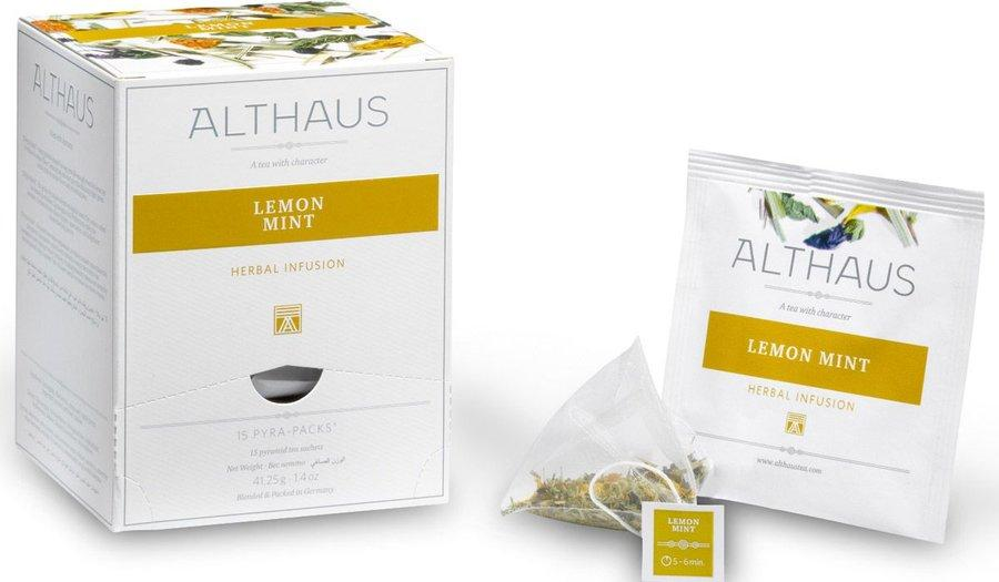 Чай травяной Althaus Lemon Mint 15 пирамидок