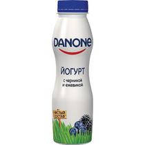 Йогурт питьевой Данон 270г ф-9 черника-ежевика