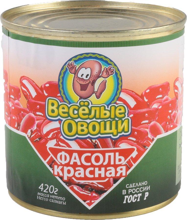 Фасоль Веселые овощи красная