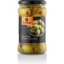 Оливки Gaea с красным перцем