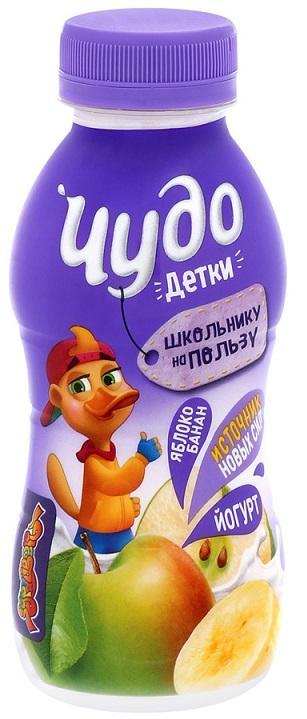 Йогурт Чудо детки питьевой яблоко+банан 200г