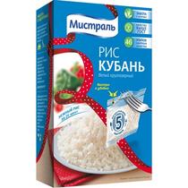 Крупа Мистраль Рис Кубань белый круглозерный 5 пакетов