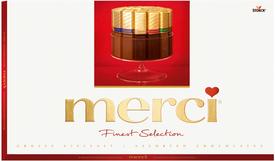 Набор шоколадок Merci Finest Selection 8 видов шоколада