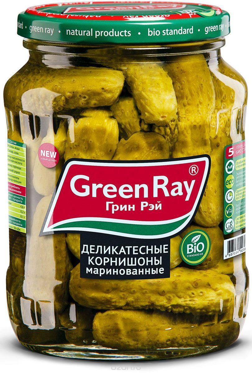 Корнишоны Green Ray Деликатесные маринованные 3-6 см