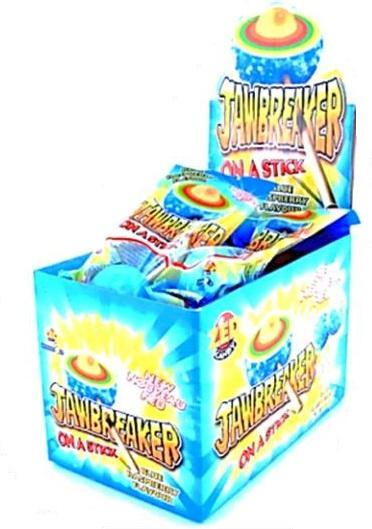 Жевательная резинка Zed Candy Jawbeaker Blue Raspberry в твердой оболочке