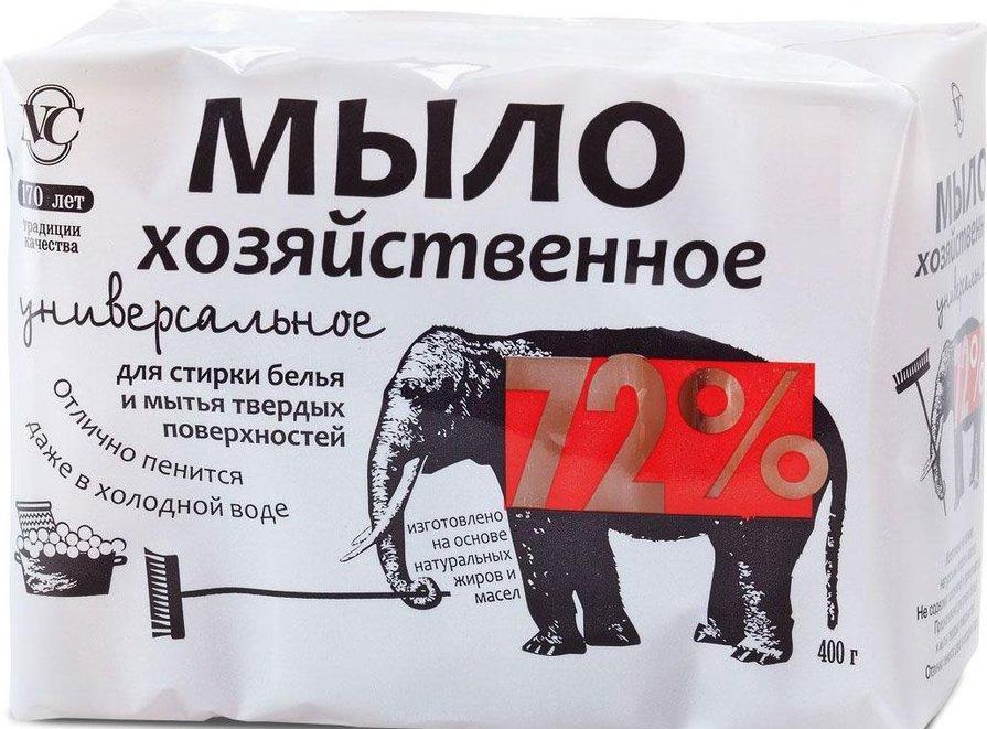 Мыло Невская косметика хозяйственное универсальное 72% 4 шт.