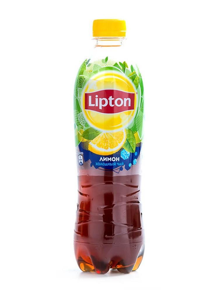 Чай холодный Lipton с лимоном безалкогольный