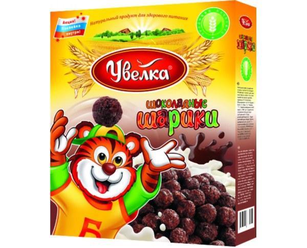 Сухие завтраки Увелка Шоколадные шарики