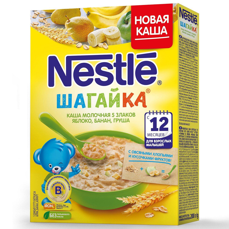 Каша Nestle молочная 5 злаков яблоко-банан-груша 12 месяцев