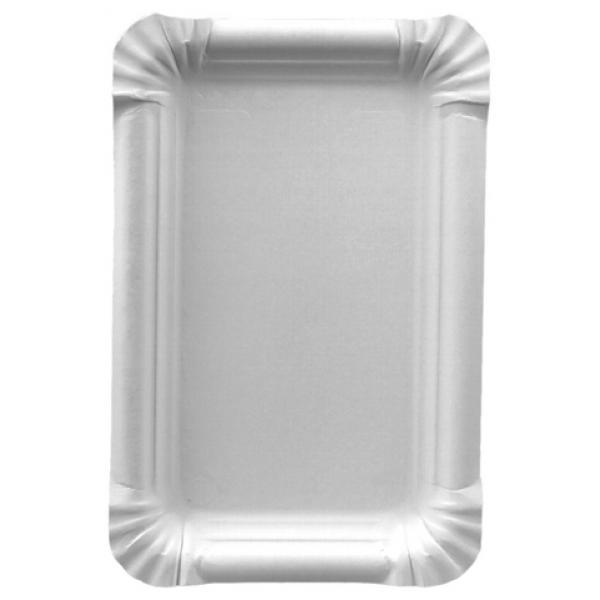 Тарелка бумажная Papstar эко картон белый 200х165мм.