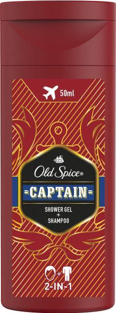 Гель для душа + Шампунь Old Spice 2в1 Captain
