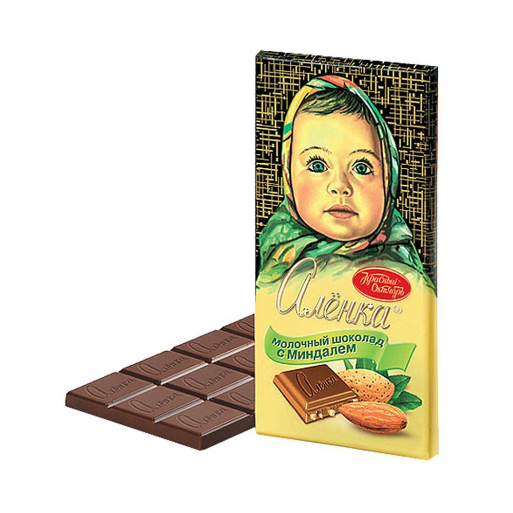 Шоколад Алёнка Молочный с миндалем