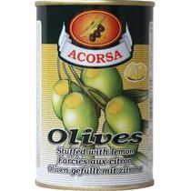 Оливки Acorsa зеленые с лимоном