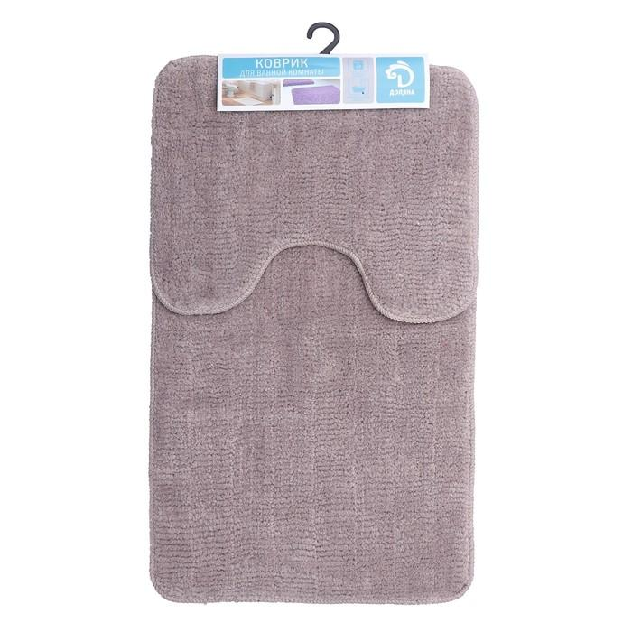 Набор ковриков Доляна Лапша Для ванны и туалета 2шт. 36х50см. 50х75см. цвет бежевый