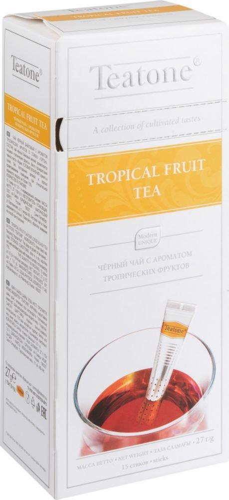 Чай чёрный в стиках Teatone Тропические фрукты 15 стиков 27 гр.