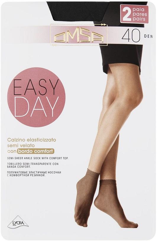 Носки OMSA Easy Day 40den Nero 2 пары