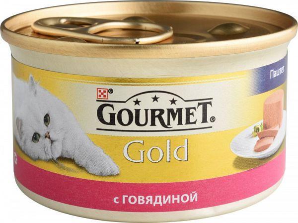 Консервы Gourmet Gold паштет с говядиной 85г