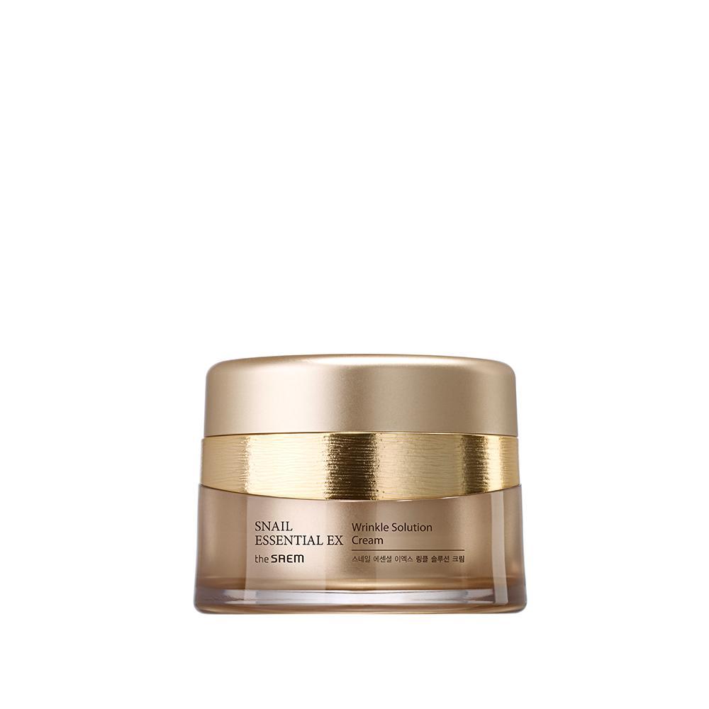 Крем The Saem для лица с муцином улитки и вибромассажер Snail Essential EX 24K Gold Cream Set