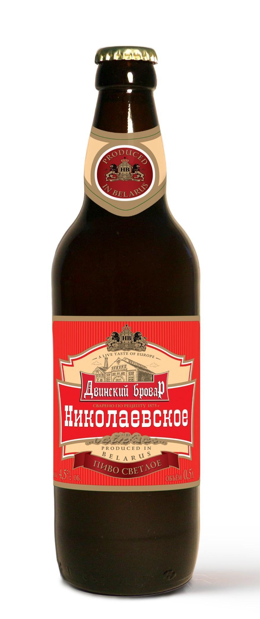 Пиво Двинский Бровар Николаевское светлое 4,5%