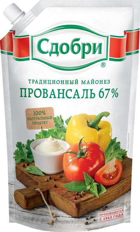 Майонез Сдобри Провансаль 67%