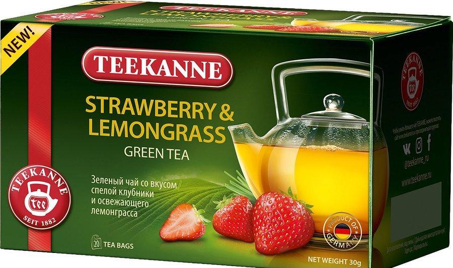 Чай зеленый Teekanne Strawberry&Lemongrass 20 пакетов