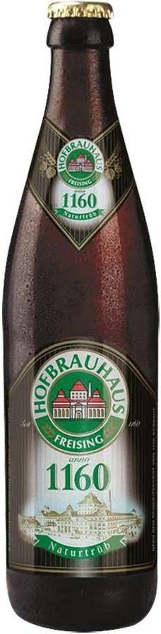 Пиво Hofbrauhaus 1160 Светлое нефильтрованное пастеризованное 5,6%