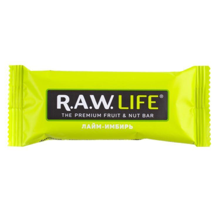 Батончик орехово-фруктовый R.A.W. LIFE Лайм-имбирь