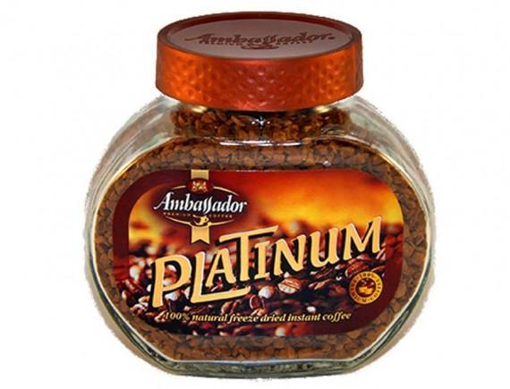 Кофе Ambassador platinum растворимый сублимированный без кофеина