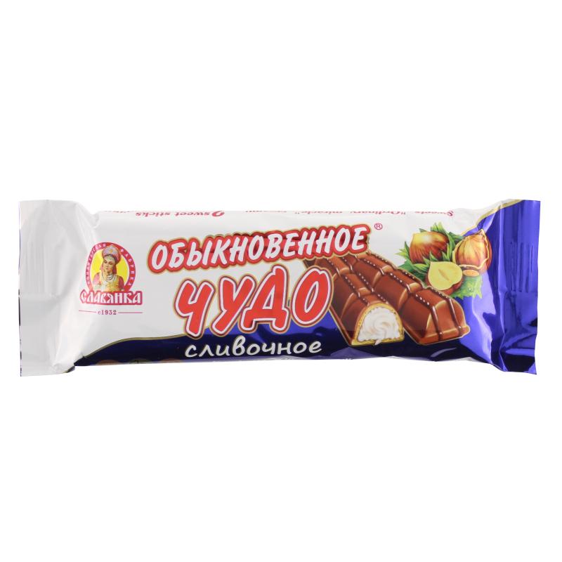 Батончик Славянка Обыкновенное чудо с молочно-кремовой начинкой 55 гр