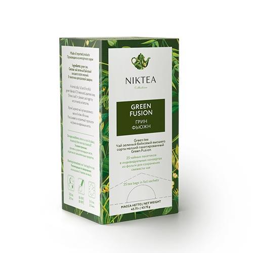 Чай зелёный пакетированный Niktea Green Fusion 25 пак.