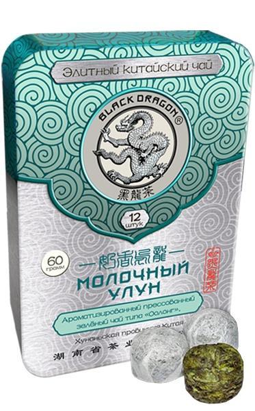 Чай Черный Дракон Улун прессованный молочный