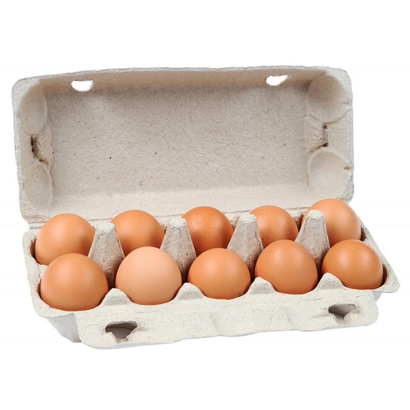 Яйцо куриное Милтэн фасованное 2 категория, 10 шт.