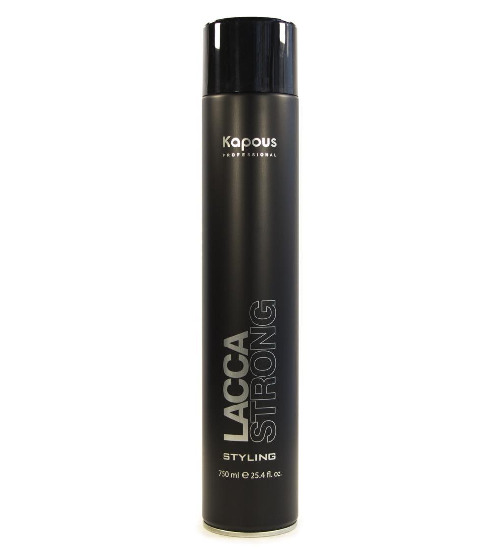 Лак Kapous для волос сильной фиксации Lacca Strong линии Studio Professional, 500 мл