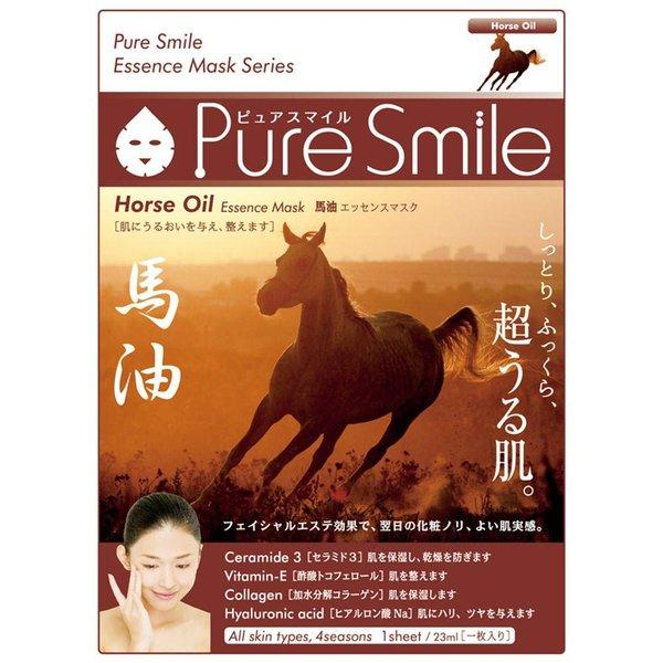 Маска Pure Smile Essence Mask для лица питательная с эссенцией лошадиного жира
