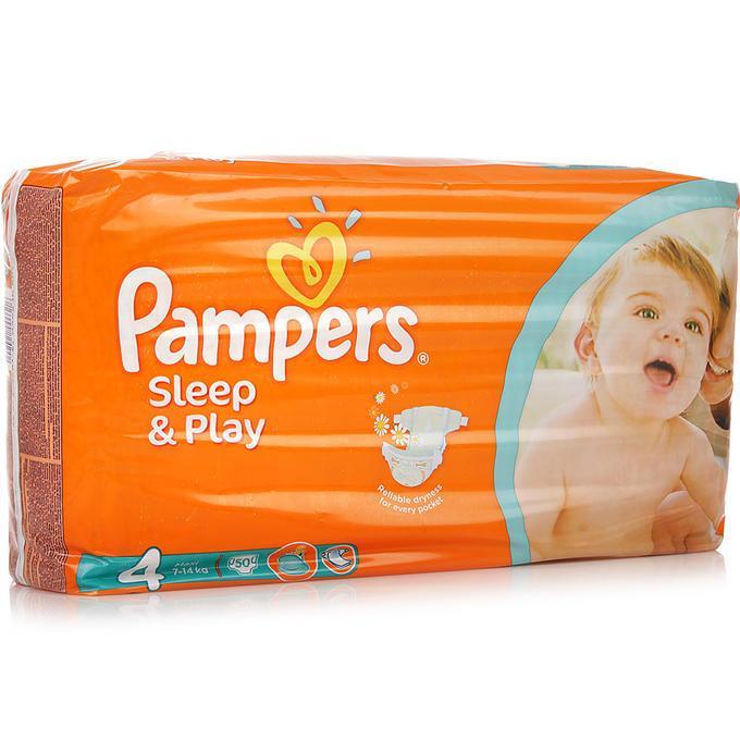 Подгузники Pampers Sleep&Play Maxi 7-18 кг., 50 шт.