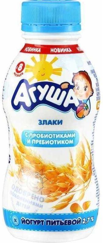Йогурт питьевой АГУША Злаки 2,7% 100г