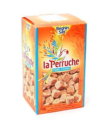 Сахар La Perruche тростн. коричневый колотый, FR