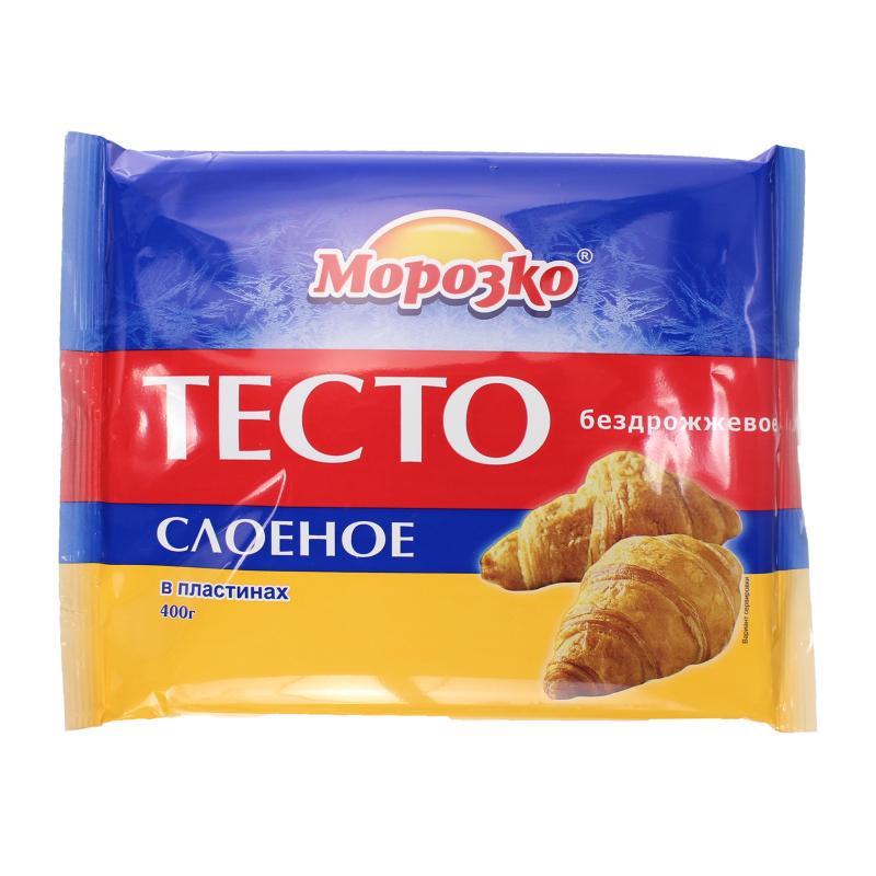 Тесто слоеное бездрожжевое (пластины), МОРОЗКО