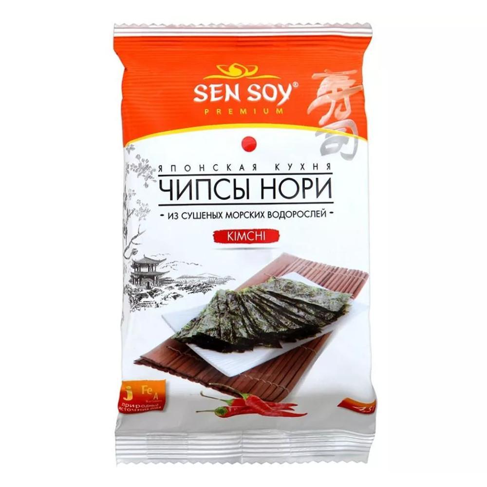 Чипсы Нори Sen Soy из морской водоросли Kimchi
