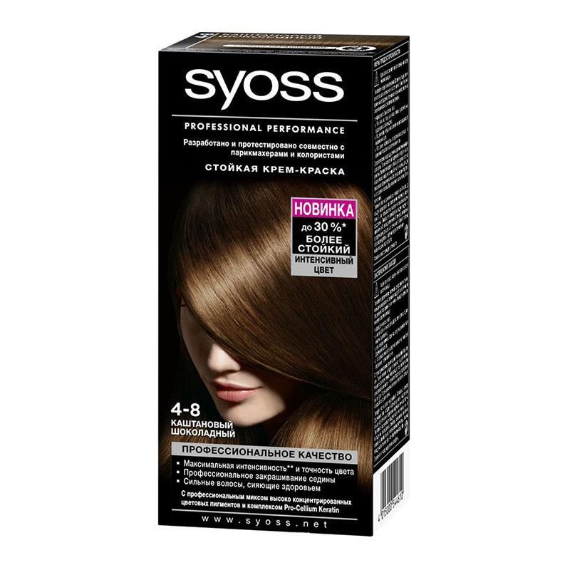 Краска для волос Syoss каштаново-шоколадный 4-8