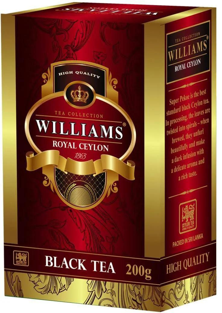 Чай черный Williams Royal Ceylon листовой