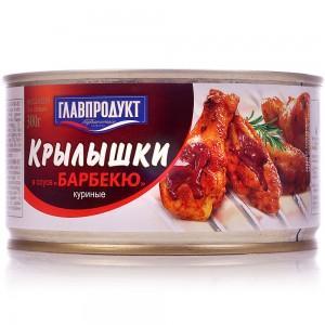 Крылышки куриные Главпродукт в соусе барбекю